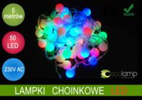 Ecolamp LAMPKI CHOINKOWE KULKI 50 LED 5m MULTIKOLOR